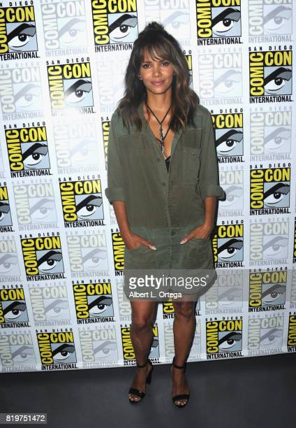 Actor Halle Berry attends the 20th Century FOX panel during ComicCon International 2017 at San Diego Convention Center on July 20 2017 in San Diego...