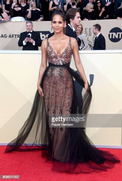 Actor Halle Berry attends the 24th Annual Screen Actors Guild Awards at The Shrine Auditorium on January 21 2018 in Los Angeles California