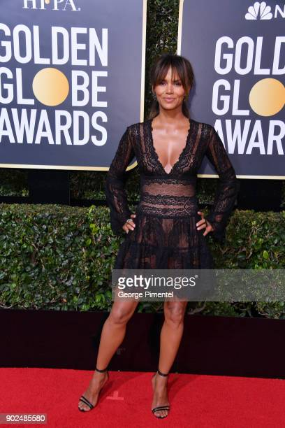 Actor Halle Berry attends The 75th Annual Golden Globe Awards at The Beverly Hilton Hotel on January 7 2018 in Beverly Hills California