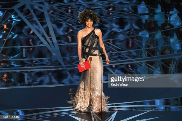 Actor Halle Berry speaks onstage during the 89th Annual Academy Awards at Hollywood Highland Center on February 26 2017 in Hollywood California