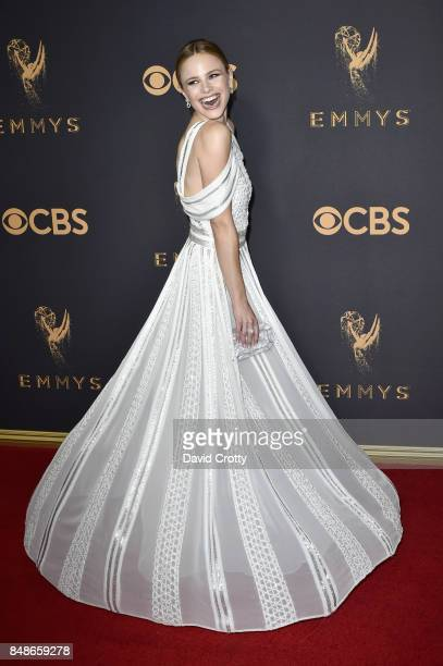 Actor Halston Sage attends the 69th Annual Primetime Emmy Awards at Microsoft Theater on September 17 2017 in Los Angeles California