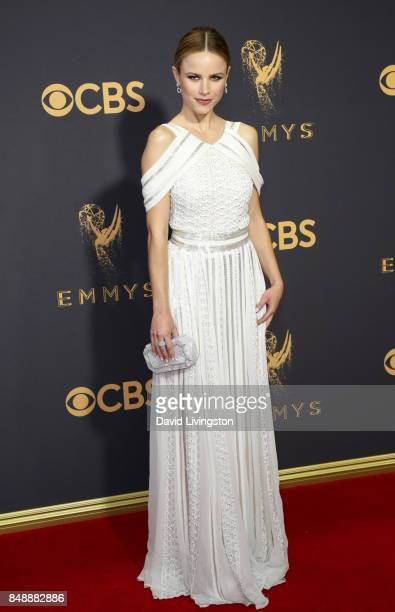 Actor Halston Sage attends the 69th Annual Primetime Emmy Awards Arrivals at Microsoft Theater on September 17 2017 in Los Angeles California