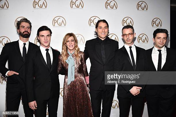 Actor Hamish Linklater actor Finn Wittrock producer Dede Gardner producer Jeremy Kleiner actor Jeremy Strong and actor John Magaro attend the 27th...