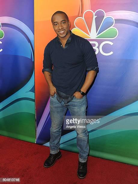 Actor Hampton Fluker arrives at the 2016 Winter TCA Tour NBCUniversal Press Tour at Langham Hotel on January 13 2016 in Pasadena California