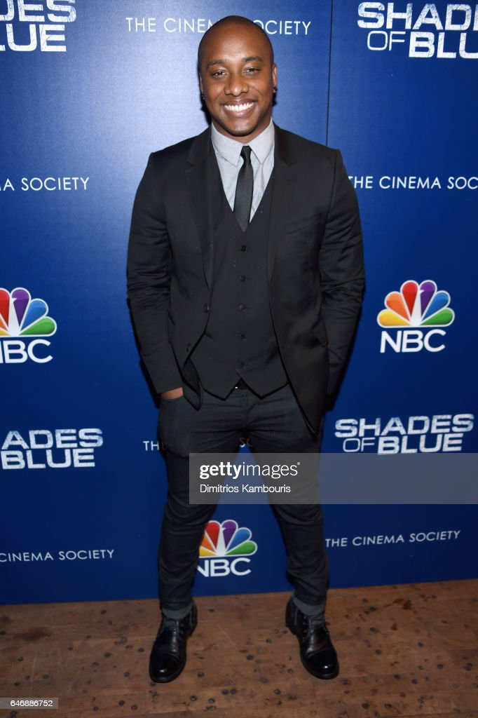 Actor Hampton Fluker attends The Season 2 Premiere Of 'Shades Of Blue' hosted by NBC And The Cinema Society at The Roxy Hotel Cinema on March 1, 2017 in New York City.