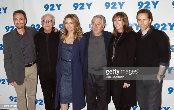 actor Hank Azaria director Barry Levinson actors Michelle Pfeiffer Robert De Niro film producer Jane Rosenthal and actor Alessandro Nivola attend the...