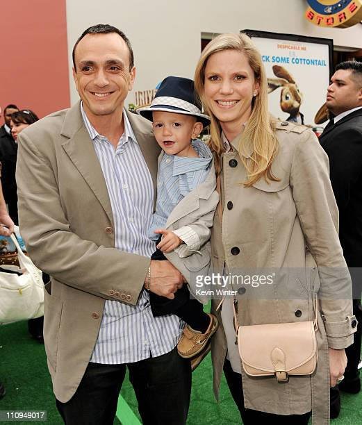 Actor Hank Azaria son Hal and Katie Wright arrive at the premiere of Universal Pictures and Illumination Entertainment's HOP at CityWalk on March 27...