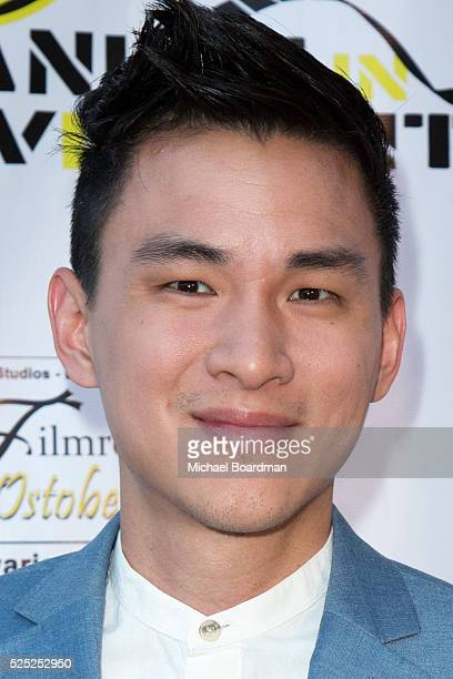 """Actor Hank Chen attends """"The Man Who Saved The World"""" premiere during the Atomic Age Cinema Fest at Raleigh Studios on April 27, 2016 in Los Angeles,..."""