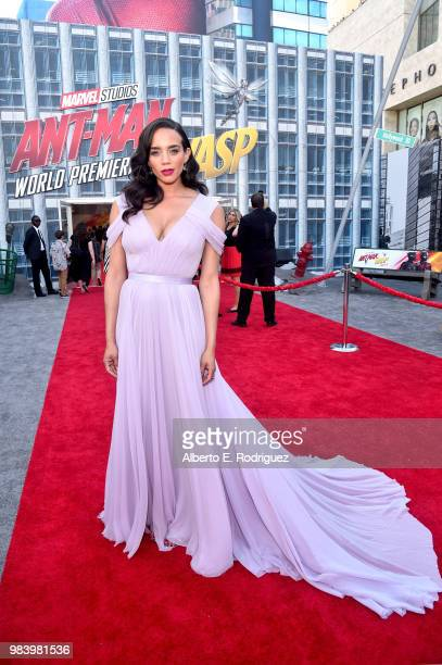 Actor Hannah JohnKamen attends the Los Angeles Global Premiere for Marvel Studios' AntMan And The Wasp at the El Capitan Theatre on June 25 2018 in...