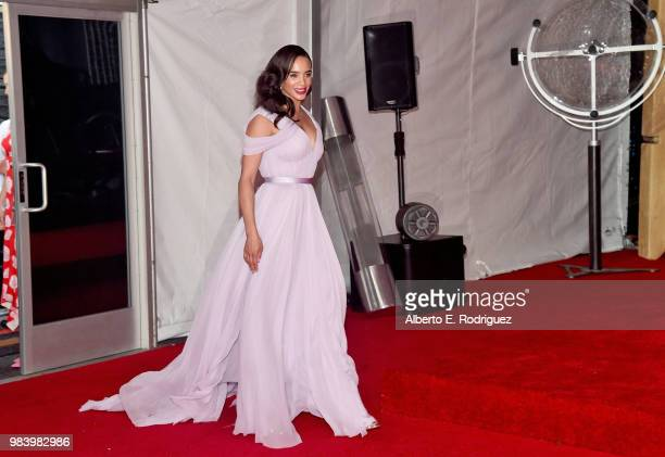 Actor Hannah JohnKamen attends the Los Angeles Global Premiere for Marvel Studios' 'AntMan And The Wasp' at the El Capitan Theatre on June 25 2018 in...