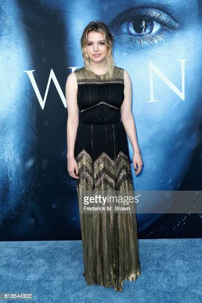 Actor Hannah Murray attends the premiere of HBO's Game Of Thrones season 7 at Walt Disney Concert Hall on July 12 2017 in Los Angeles California
