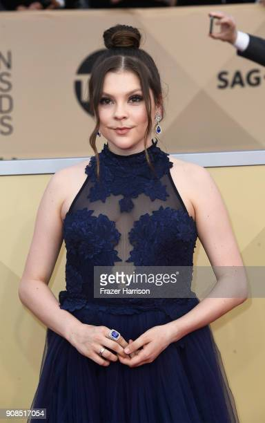Actor Hannah Zeile attends the 24th Annual Screen Actors Guild Awards at The Shrine Auditorium on January 21 2018 in Los Angeles California