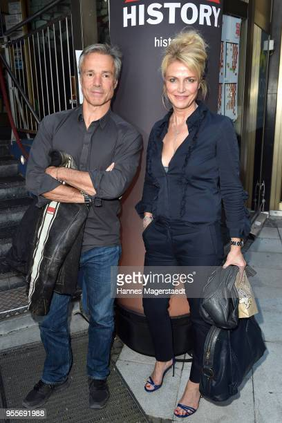 Actor Hannes Jaenicke and Ursula Gottwald attend a photo call for new documentary 'Guardians of Heritage Hueter der Geschichte' by German TV channel...