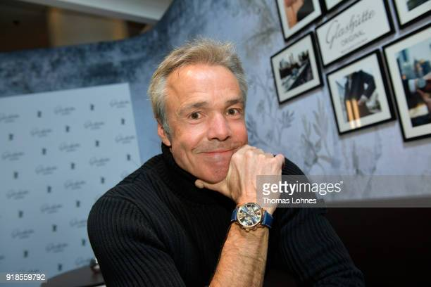 Actor Hannes Jaenicke attends the Glashuette Original Lounge at The 68th Berlinale International Film Festival at Grand Hyatt Hotel on February 15...