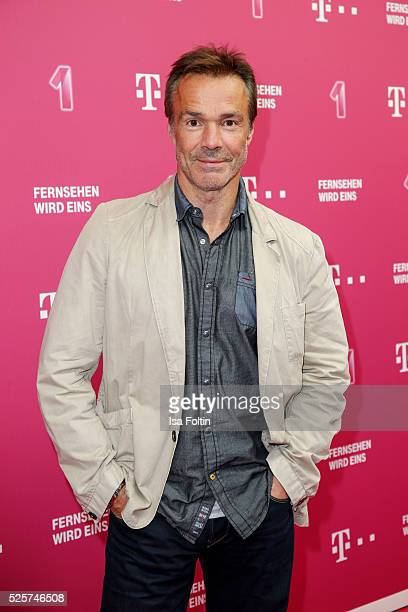 Actor Hannes Jaenicke attends the Telekom Entertain TV Night at Hotel Zoo on April 28 2016 in Berlin Germany