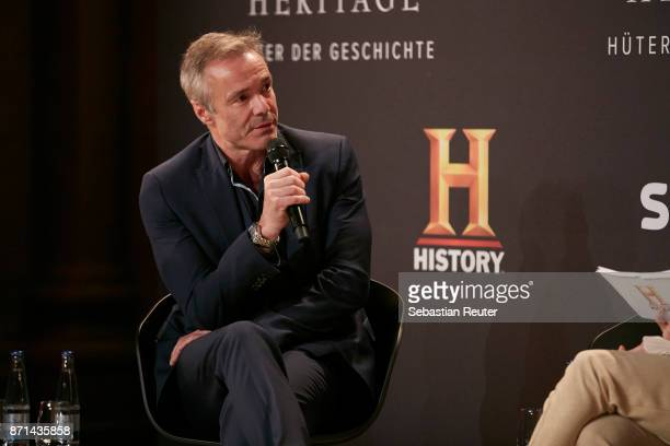 Actor Hannes Jaenicke is seen at the preview screening of the new documentary 'Guardians of Heritage Hueter der Geschichte' by German TV channel...