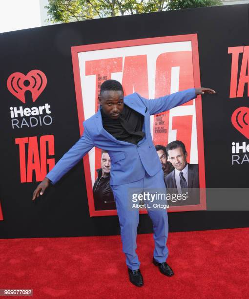 """Actor Hannibal Buress arrives for the Premiere Of Warner Bros. Pictures And New Line Cinema's """"Tag"""" held at Regency Village Theatre on June 7, 2018..."""