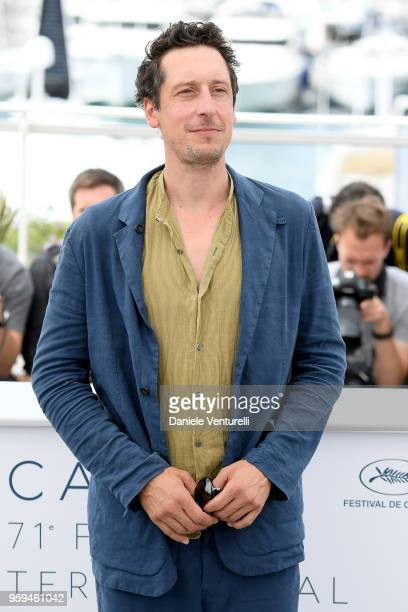 Actor Hans Loew attends the photocall for 'In My Room' during the 71st annual Cannes Film Festival at Palais des Festivals on May 17 2018 in Cannes...