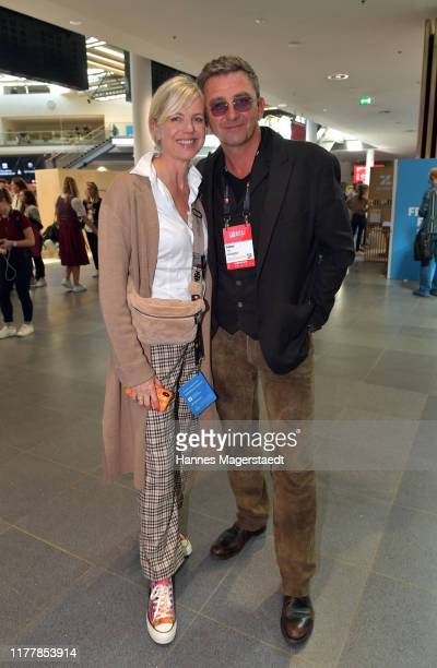 Actor Hans Sigl and his wife Susanne Sigl during the Bits Pretzels Founders Festival at ICM Munich on September 29 2019 in Munich Germany Bits...