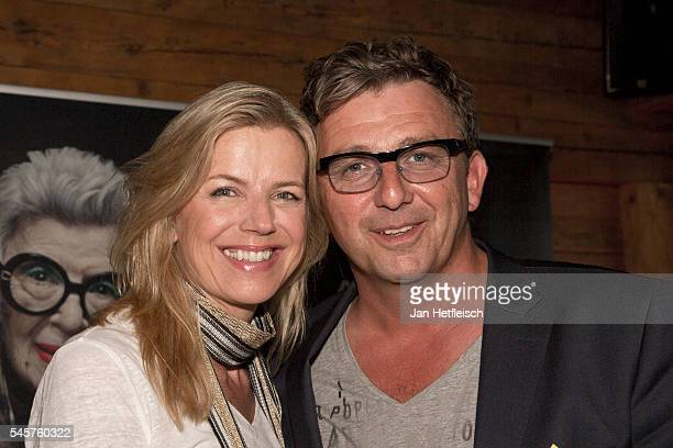 Actor Hans Sigl and his wife Susanne Sigl pose for a picture during the 'Klassik in den Alpen' Open Air on July 9 2016 in Kitzbuehel Austria