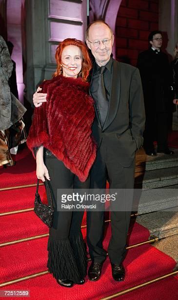 Actor HansPeter Korff and his wife Christiane Leuchtmann arrive at the Deutscher Sportpresseball on November 11 2006 in Frankfurt Germany