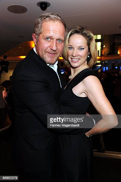 Actor Harald Krassnitzer and AnnKathrin Kramer attend the ARD Dinner at the Hypo Forum on November 28 2008 in Munich Germany