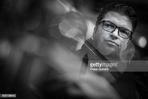 Actor Hardy Krueger Jr is pictured during the Rodenstock Sports Talk at opti 2016 tradeshow at Messe Muenchen on January 15 2016 in Munich Germany