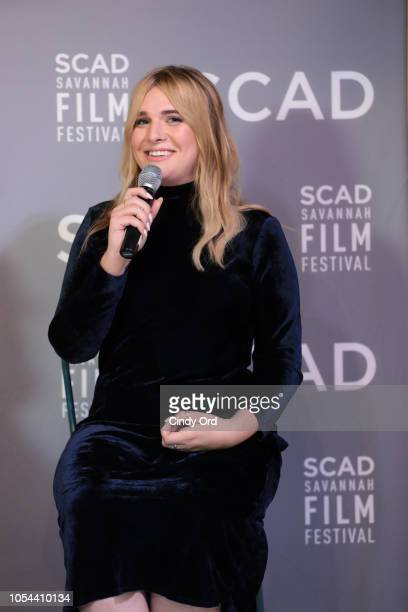 Actor Hari Nef speaks at the Entertainment Weekly Breakout Awards Panel at the 21st SCAD Savannah Film Festival on October 27, 2018 in Savannah,...