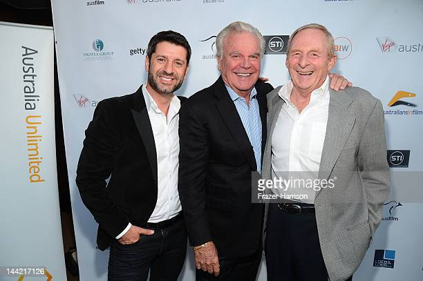 Actor Harli Ames actor Robert Wagner and Director Simon Wincer arrive at the Australians In Film Screening and USA premiere of Myriad Pictures' The...