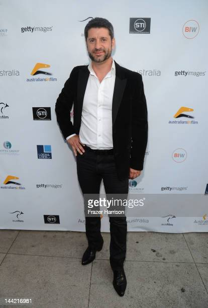 Actor Harli Ames arrives at the Australians In Film Screening and USA premiere of Myriad Pictures' The Cup at Laemmle's Music Hall 3 on May 11 2012...