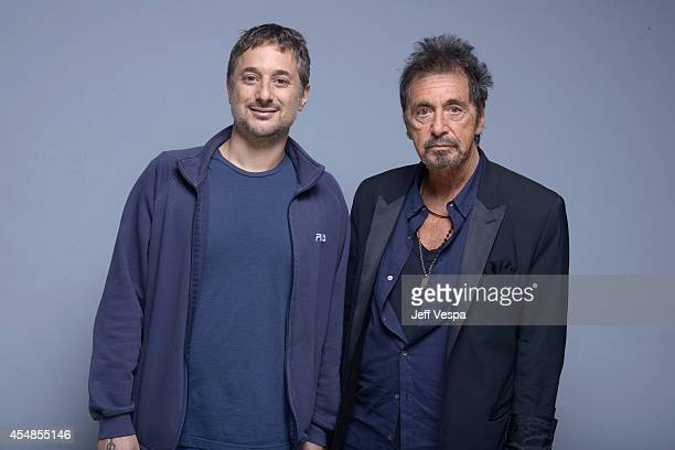 Actor Harmony Korine and actor Al Pacino of 'Manglehorn' pose for a portrait during the 2014 Toronto International Film Festival on September 7 2014...