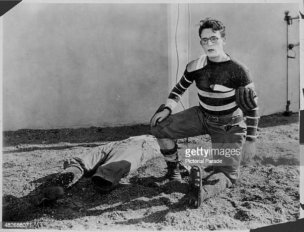 Actor Harold Lloyd in a scene from the movie 'The Freshman' 1925