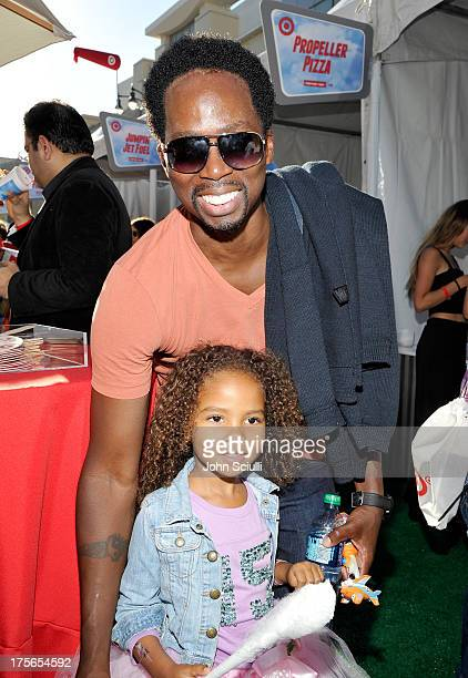 Actor Harold Perrineau Jr and daughter Wynter Aria Perrineau at the worldpremiere of Disney's Planes presented by Target at the El Capitan Theatre on...