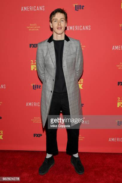 Actor Harris Dickinson attends The Americans Season 6 Premiere at Alice Tully Hall Lincoln Center on March 16 2018 in New York City