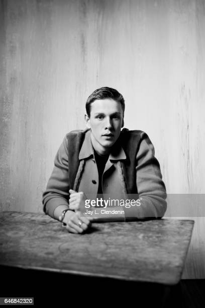 Actor Harris Dickinson from the film Beach Rats is photographed at the 2017 Sundance Film Festival for Los Angeles Times on January 23 2017 in Park...