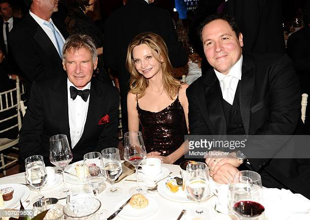 Actor Harrison Ford actress Calista Flockhart and director Jon Favreau attend the Santa Barbara International Film Festival's 5th Annual Kirk...