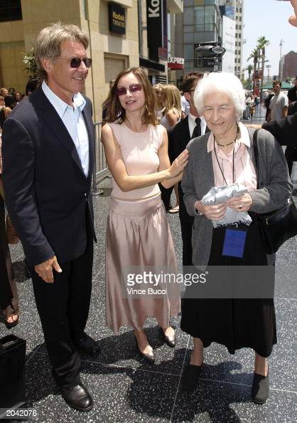 Actor Harrison Ford, actress Calista Flockhart and Ford's ...