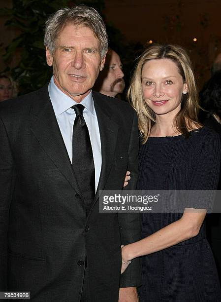 Actor Harrison Ford and actress Calista Flockhart arrive at the 45th Annual ICG Publicists Awards Luncheon held at the Beverly Hilton Hotel on...