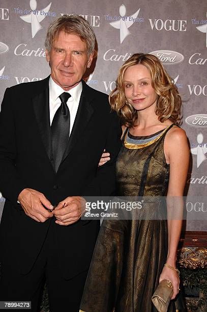 Actor Harrison Ford and actress Calista Flockhart arrives to The Art of Elysium 10th Anniversary Gala at Vibiana on January 12 2008 in Los Angeles...
