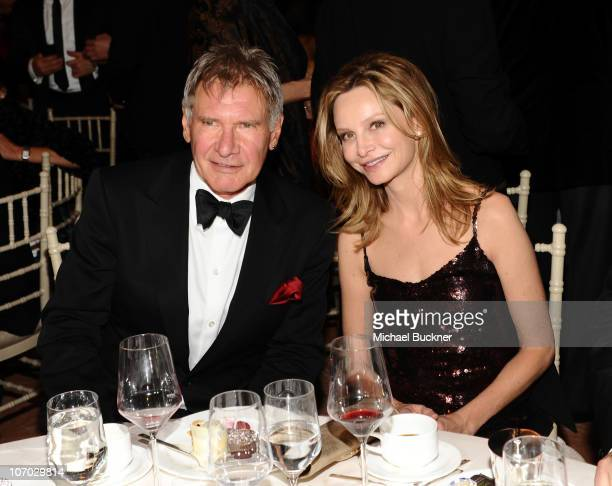 Actor Harrison Ford and actress Calista Flockhart attend the Santa Barbara International Film Festival's 5th Annual Kirk Douglas' Excellence In Film...