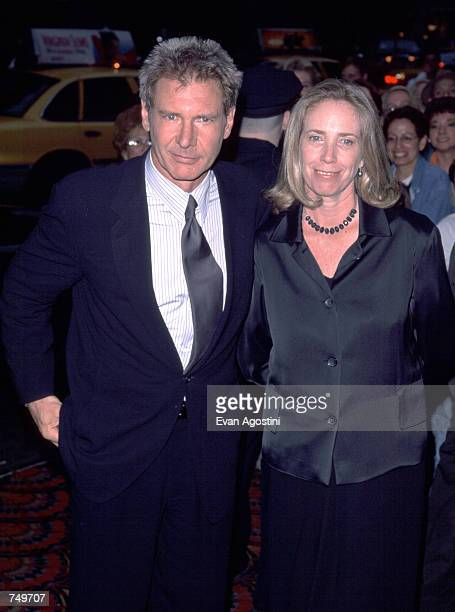 Actor Harrison Ford and his wife Melissa Mathison attend a benefit screening of 'Six Days and Seven Nights' June 11 1998 in New York City Ford and...