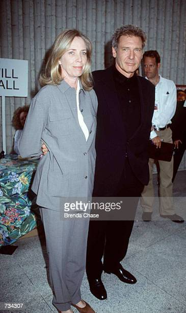 Actor Harrison Ford and his wife Melissa Mathison attend the premiere of his new movie 'Six Days and Seven Nights' June 8 1998 in Westwood CA Ford...