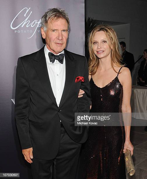 Actor Harrison Ford and wife actress Calista Flockhart arrive at SBIFF's 5th Annual Kirk Douglas Award For Excellence In Film Ceremony at The Four...