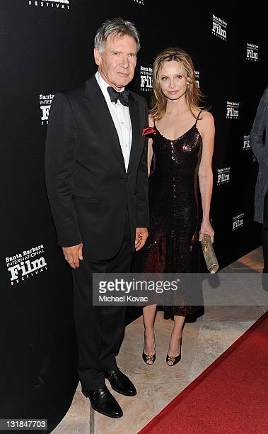 Actor Harrison Ford and wife actress Calista Flockhart attend SBIFF's 5th Annual Kirk Douglas Award For Excellence In Film Ceremony at The Four...