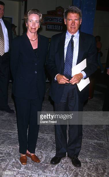 Actor Harrison Ford and wife Melissa Mathison in New York Ford and his wife screenwriter Melissa Mathison announced November 7 2000 that they have...