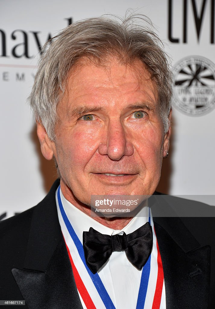 Actor Harrison Ford arrives at the 12th Annual 'Living Legends Of Aviation' Awards at The Beverly Hilton Hotel on January 16, 2015 in Beverly Hills, California.