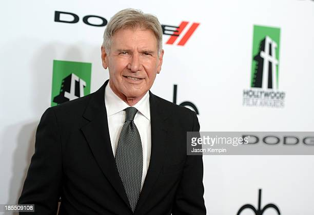 Actor Harrison Ford arrives at the 17th annual Hollywood Film Awards at The Beverly Hilton Hotel on October 21 2013 in Beverly Hills California