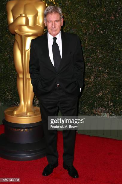 Actor Harrison Ford arrives at the Academy of Motion Picture Arts and Sciences' Governors Awards at The Ray Dolby Ballroom at Hollywood Highland...