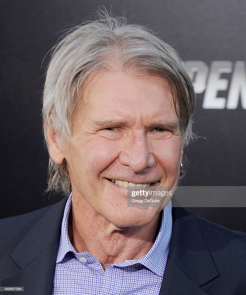 Actor Harrison Ford arrives at the Los Angeles premiere of 'The Expendables 3' at TCL Chinese Theatre on August 11, 2014 in Hollywood, California.
