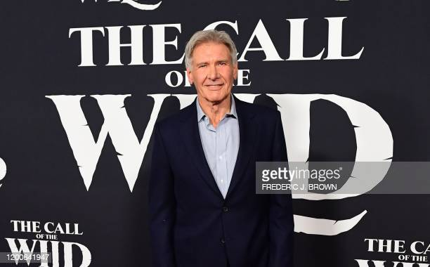 US actor Harrison Ford arrives for Disney's The Call of the Wild premiere at El Capitan theatre in Hollywood California on February 13 2020